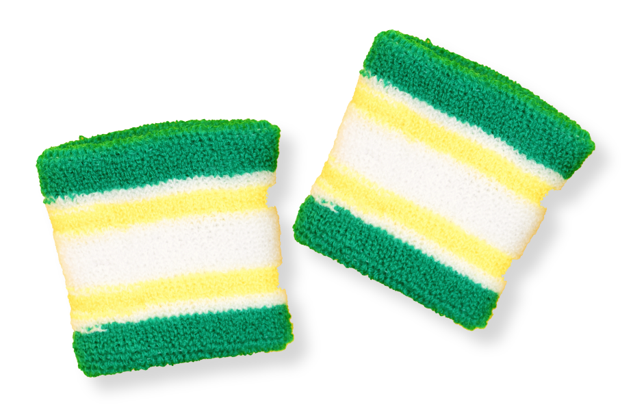 Image of sweatbands from the 80s